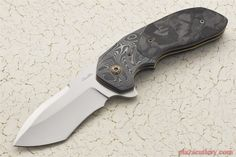 Chamblin Mini Uprising with Marbled Carbon Fiber and Damasteel Bolster