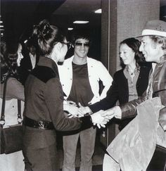 Bruce, Nora, Maria, Sterling and his wife at Kai Tak airport