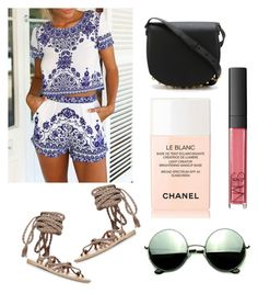 """summer it is!!"" by anjana-akanksha on Polyvore featuring Ancient Greek Sandals, Alexander Wang, Chanel, NARS Cosmetics, Revo and summersandals"