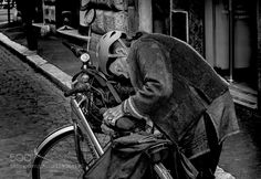 Woman with bike by jhcibils Street Photography #InfluentialLime