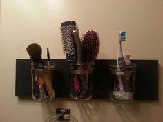 DIY: Mason Jars Ball para organizar el baño   El blog mas Grande de Decoracion