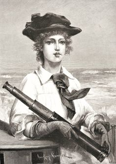 Portrait of a Lady with a Telescope, from the Illustrated London News, August 3, 1889