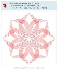 Graphics@{NestList[Rotate[#,Pi/4,{-1,-.5}]&,{s=CirclePoints[#,3]&/@ Range[0,1,.1];Red,BezierCurve/@{s,s/.{a_,b_}:>{a,-b-1}}},7]}