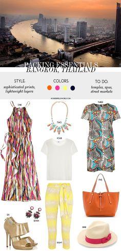 packing essentials - Bangkok