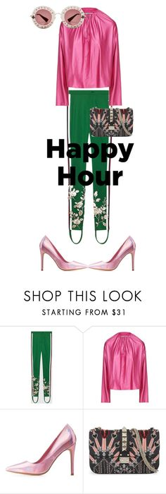 """happyhour 5"" by live-ska on Polyvore featuring мода, Gucci, Balenciaga, Charlotte Russe, Valentino и happyhour"