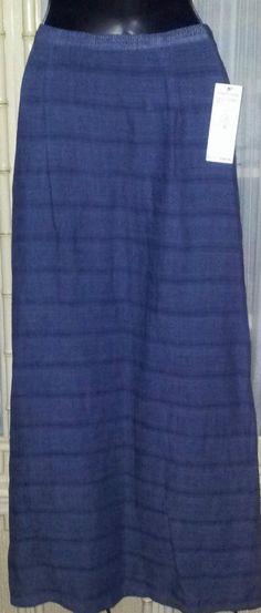 Long Skirt w/Tag $128.00 Sz Sm Blue Sienna Sky's Fine Weave David Dart USA  #DavidDartCollection #LongSkirt