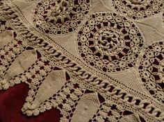 Crocheted coverlet detail.  Remarkable hand work!
