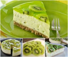 Kiwi No Bake Fruit Cheesecake!