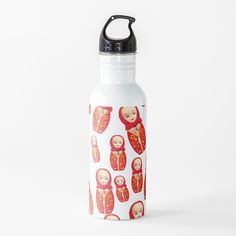 'Russian Matryoshka Doll With Big Boobs!' Water Bottle by loveplasticpam Funny Russian, Russian Humor, Water Bottle Design, Matryoshka Doll, Stainless Steel Bottle, Free Stickers, Vibrant, Colorful, Art Prints