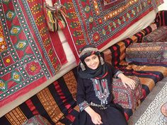 Yemeni girl in traditional clothes