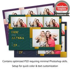 The New Standard Postcard Photo Booth Template Photobooth Template, Postcard Template, Postcard Printing, Postcard Design, Folded Business Cards, Business Card Size, Gold Gradient, Digital Story, Custom Postcards