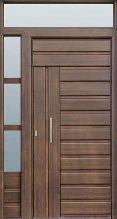 Wooden Front Door Design, Wooden Front Doors, Wood Doors, Wooden Windows, Entry Doors, Sliding Doors, Bedroom Door Design, Door Design Interior, Bedroom Doors