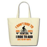 Bags & backpacks ~ Eco-Friendly Cotton Tote ~ Ride my bike