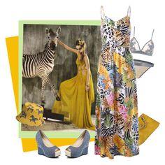 """Bohemian Tropical Maxi Dress"" by carola-corana ❤ liked on Polyvore"