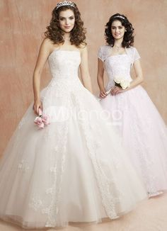 Classic Strapless Beaded Embroidery Organza Satin Ball Gown Dress