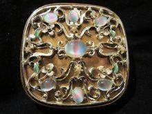 "Fabulous Rare Art Glass "" Givre"" Evans Enameled Compact"