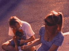 Kim Gordon and Kurt Cobain