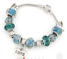 Love charm bracelet by Jcafterhours on Etsy