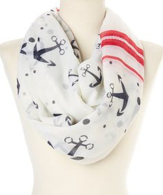 This Cream Big Anchor Infinity Scarf is perfect! #zulilyfinds
