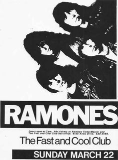 The Ramones | 35 Old Punk Flyers That Prove Punk Used To Be So Cool