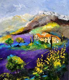 "Saatchi Art Artist Pol Ledent; Painting, ""Provence 783190"" #art"