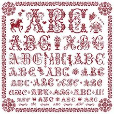 Shrinking - Marquoir rouge au point de croix de Clorami Designs. www.clorami-designs.be