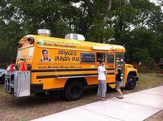 Bernie's Burger Bus Food Truck. I love the school bus!