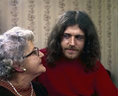 British musician Joe Cocker (born John Robert Cocker) with his mother Marjorie, in Sheffield, England. IMAGE: JOHN OLSON/THE LIFE PICTURE COLLECTION/GETTY IMAGES