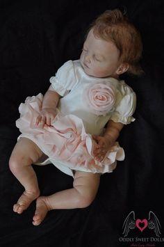 Reborn baby girl Tilda by Christa Gotzen, Reborned by Lacey Michelle.