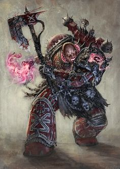 """jolly-plaguefather: """"rotaken: """" Warhammer 40k - Sanctified Sorcerer by Rotaken """" That… Is… A Khornate Sorcerer? Now, this begs the question: Is the marine using rituals, or is this actual psykery and..."""