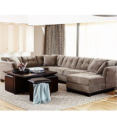 Elliot Fabric Sectional Living Room Furniture Collection | macys.com