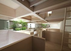 Katsutoshi Sasaki's House in Hanekita has a grid of half-height walls