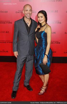James Logan and Ivette Li-Sanchez my two heroes of HG-Catching Fire!!! Spreading this pic on every network!  the dress she's wearing was created by me and masterly made by my mother!!!