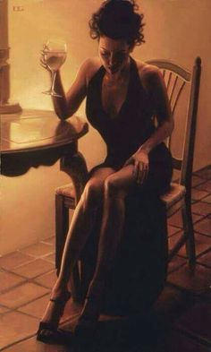 Elegant Lady in Black by Carrie Graber is a Limited Edition Fine Art Giclee Print on Canvas, Numbered in Sequence at 160 out of a total Edition Size of only is Hand Signed by the Artist, and includes a Certificate of Authenticity. Champagne, Woman Wine, Wine Art, Elegant Woman, Sensual, Carry On, Black Women, Photoshoot, Inspiration