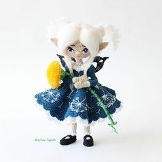 Одуванчик полевой, лекарственный ! Каркасная кукла....☆