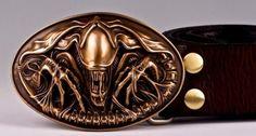 OGRM  Bronze Casting Birth Machine Baby Bullet Men Belt Buckles Cowhide Leather