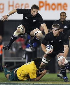 Richie Mccaw and Brad Thorn - Tri-Nations - New Zealand v Australia