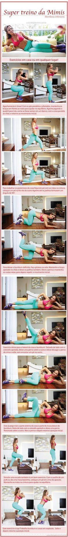 Amores!!! Preparei mais um super post com dicas de exercícios para fazer em casa, na academia ou em qualquer lugar. Sei que vocês adoram dicas fáceis e esse treino é pra deixar o bumbum e as coxas …