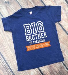 Big brother in Training Shirt - Big Brother Shirt - New Big Brother - Announcement Shirts - Boys' Clothing - Personalized Big Brother Shirt