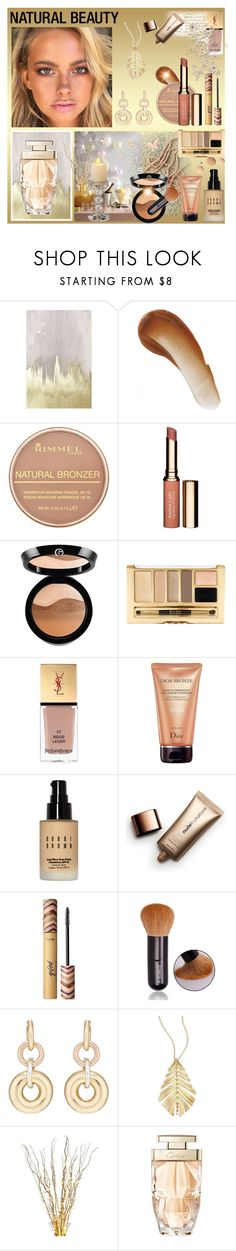 """natural beauty"" by ninigreen ❤ liked on Polyvore featuring beauty, Oliver Gal Artist Co., This Works, Rimmel, Clarins, Giorgio Armani, CC, Yves Saint Laurent, Christian Dior and Bobbi Brown Cosmetics"