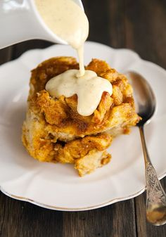 bread pudding with bourbon vanilla sauce use real butter more bourbon ...