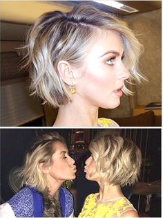 Julianne Hough's chic bob - this color and cut is what I'm envisioning...