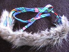 #Mink Fur Furry Upcycle Choker Necklace Handmade by @dragonflyridge, $70.00