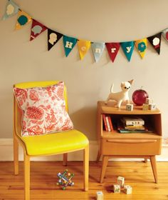 the boo and the boy: pops of yellow in kids' rooms