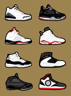 Tinker Hatfield Air Jordan designs - I almost outlined my shoes in black  just because i loved how this graphic really made them pop out more.