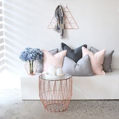 New Bedroom Grey Blush Pillows Ideas My New Room, My Room, Gray Bedroom, Bedroom Decor, Bedroom Ideas, Trendy Bedroom, Rangement Makeup, Diy Décoration, Home And Living