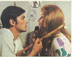 "Senta Berger Alain Delon in ""Diabolically Yours"" Original Vintage L Card 1967…"