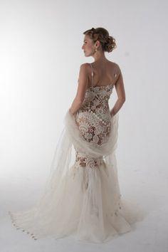 Crochet wedding dress (Svetlana Pushkina)