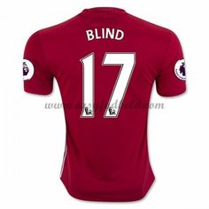 Fodboldtrøjer Premier League Manchester United 2016-17 Blind 17 Hjemmetrøje