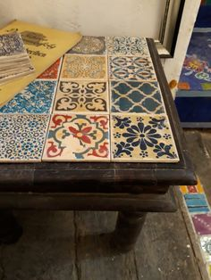 Table, Furniture, Home Decor, Mesas, Tile, Painting Art, Do Crafts, Decoration Home, Room Decor